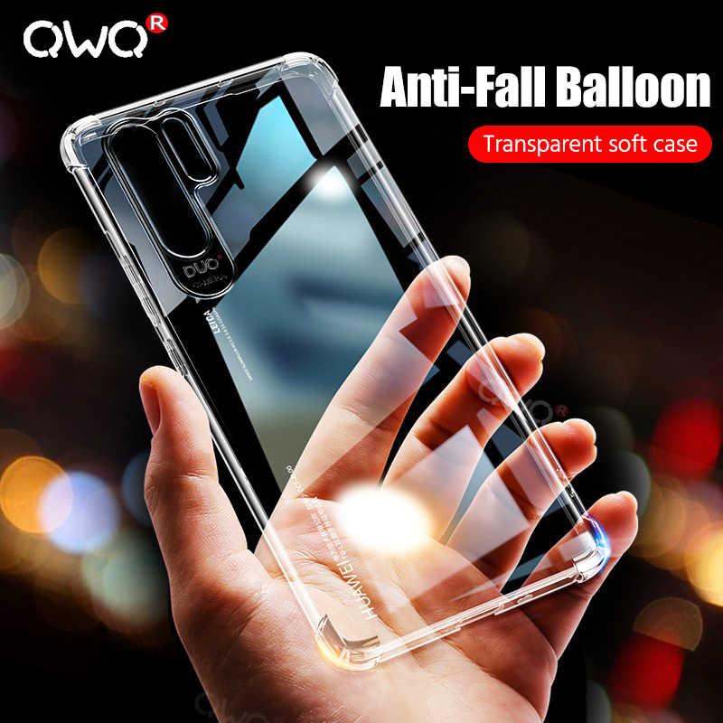 יוקרה עמיד הלם רך TPU טלפון מקרה עבור Huawei P20 לייט P30 פרו מגן כיסוי עבור Huawei Mate P20 20 10 לייט P חכם 2019