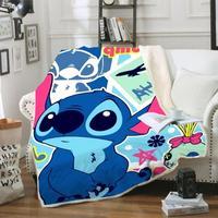 Karikatür Lilo ve Stitch komik karakter battaniye 3D baskı Sherpa battaniye yatak ev tekstili rüya gibi tarzı 02
