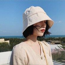 New Fashion Bucket Hat Women's Fisherman Hat Summer Panama Cap Beach Sun Fishing Hat Sun Protection Caps for Ladies fashion wifi signal pattern bucket hat for men