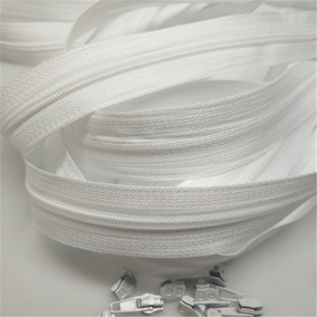 bulk Zipper #3 White Quilt zipper Nylon coil zippers for sewing wholesale Double Sliders Closed End DIY Sewing Craft