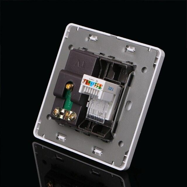 Купить электрическая rj45 сетевая тв антенна розетка настенное крепление картинки цена