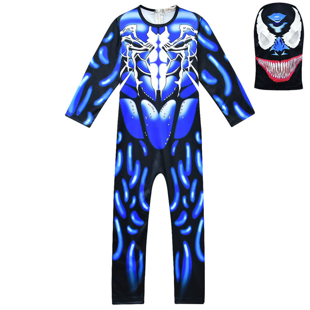Boys Carnival MEZMER / Raptor Costumes Jumpsuits Kids Clown Cosplay Clothes Halloween Costumes Raven Party Game Cosplay Costumes 3