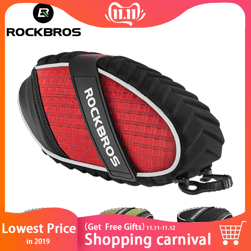 ROCKBROS Cycling Bicycle Bag  Rainproof Saddle Reflective Bike Shockproof Rear Seatpost MTB Accessories