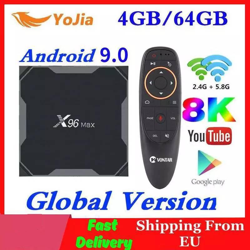 Android 9.0 TV Box X96 Max Plus Amlogic S905x3 8K Smart Media Player 4GB RAM 64GB ROM X96Max Set Top Box 2G16G QuadCore 5G Wifi