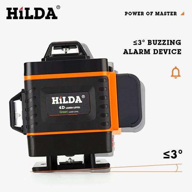 HILDA 12/16 линии 3/4D лазерный уровень самонивелирующийся 360 горизонтальный и вертикальный 2