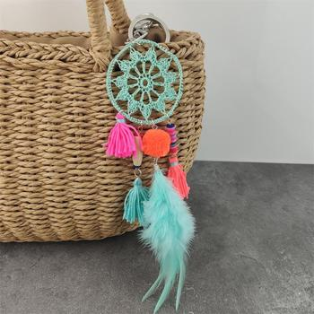 Handmade Keychain Dream catcher Mishmash Keychain cb5feb1b7314637725a2e7: aqua|Blue|Yellow