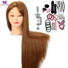 Neverland-tête de Mannequin synthétique, coiffures, 26 pouces, d'entraînement à la coiffure, têtes de poupées factices