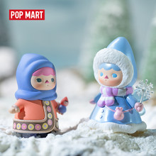 Popmart 1 Pc Pucky Winter Baby Blind Doos Pop Binary Action Figure Verjaardagscadeau Kid Speelgoed Action Figure Verjaardagscadeau kid Speelgoed(China)