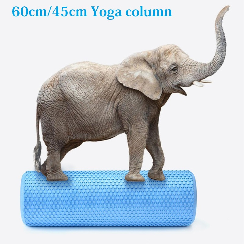 60/45*15cm Solid Yoga Column EVA Fitness Pilates Yoga Foam Roller Blocks Train Gym  Massage Grid Point Therapy Physio Exercise