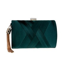 Chic Tassel Wrist Bag Fashion Silk Clutch Women Handbadg For Ladies Luxury Evening Party Bag Casual Chain Shoulder Messenger Bag