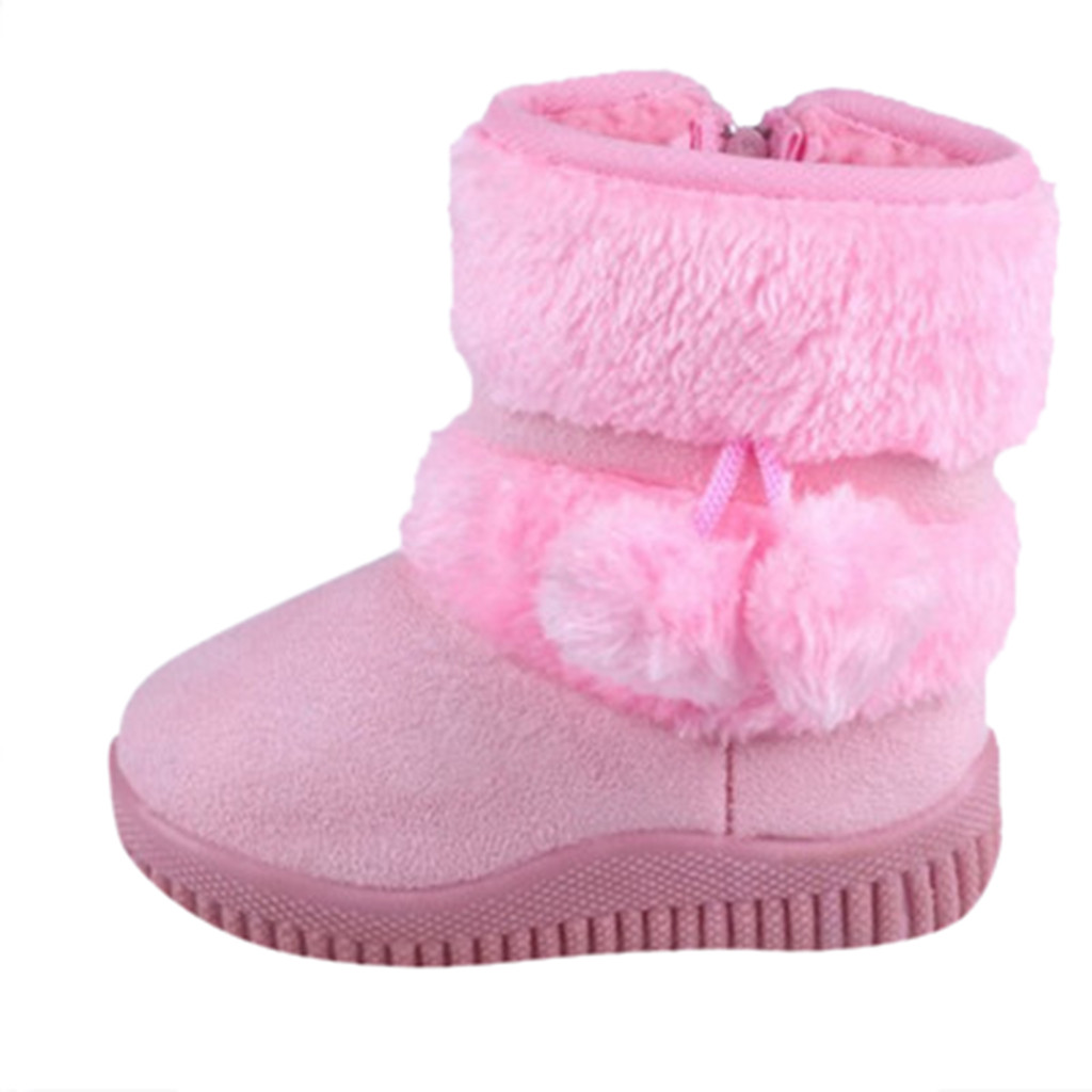 2019 New Children Snow Boots Warm Winter Boots Fashion Plush Baby Shoes Water-Proof Sneakers Girls Boys Winter Boots