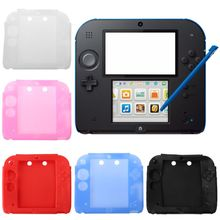 Protective Cover Case Shell Soft Silicone Skin Anti-Slip Shockproof Accessories for Nintendo 2DS Game Player Handheld Console stylish protective silicone case for 2ds red