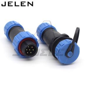 SP13, wodoodporne złącze LED 7pin, złącze kabla zasilającego LED, IP68, 7 przewód pinowy,