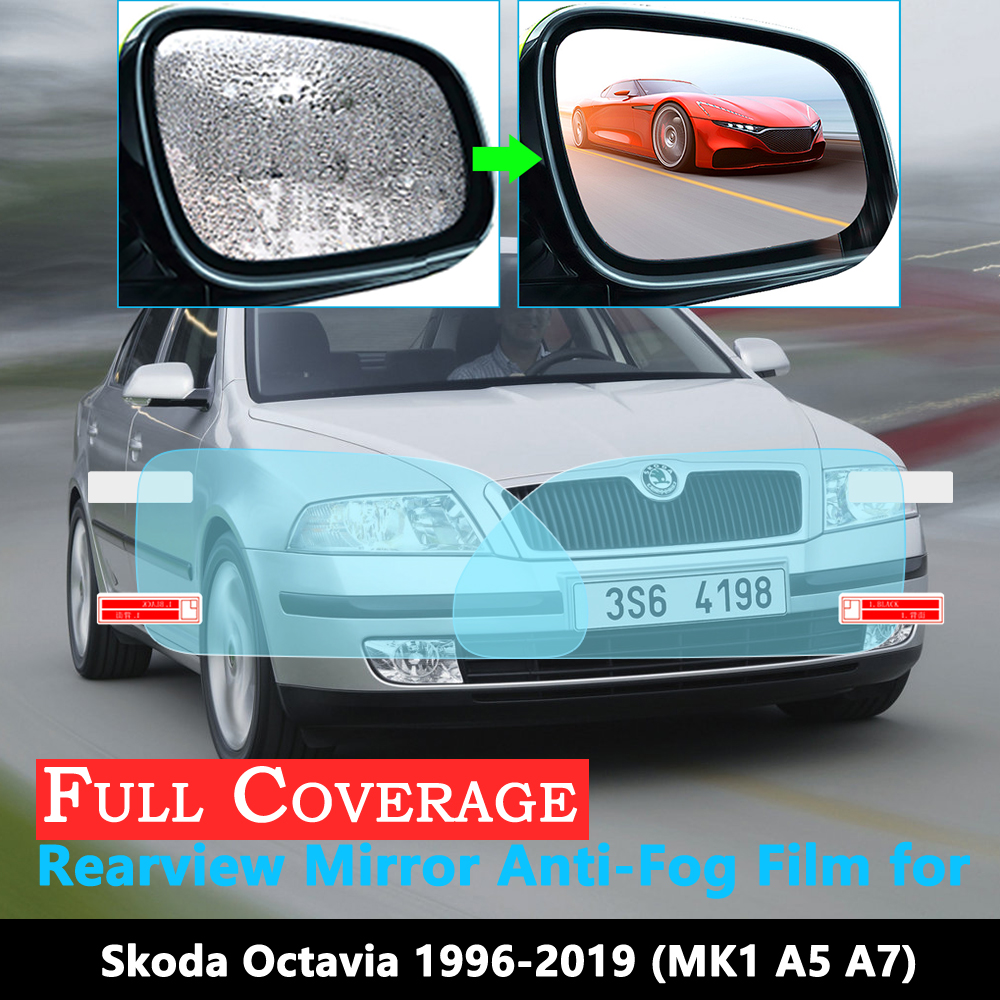 Full Cover Protective Film For Skoda Octavia 1 2 3 A5 A7 MK1 MK2 MK3 1U 1Z 5E 1996~2019 Car Rearview Mirror Rainproof Anti-Fog