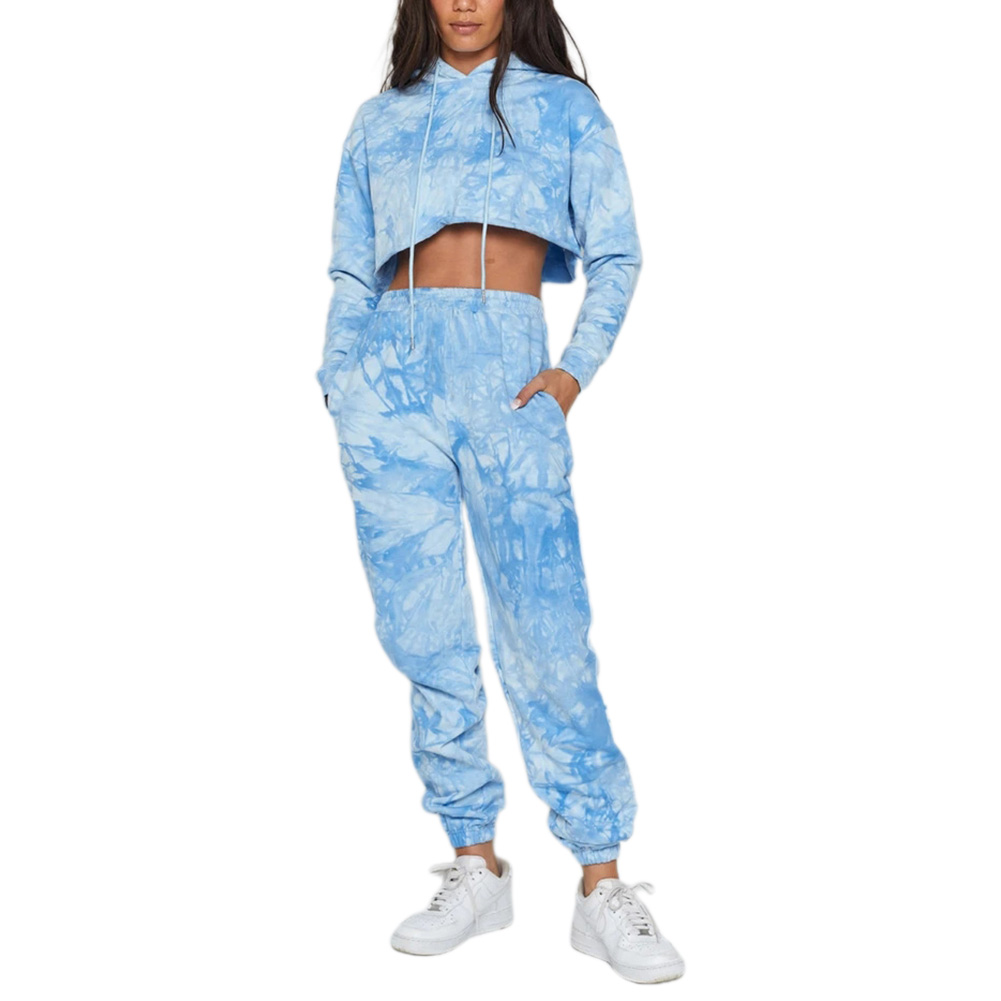 Female Pants Floral Print Tie dying High Waist Pants Casual Trousers for Women S-XL autumn winter streetwear clothes