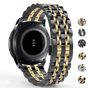 For Samsung Galaxy Watch 3 41 45mm 46mm 42mm for Gear S3 22mm 20mm Amazift Solid Metal Stainless Steel Strap Wristband Bracelet - discount item  52% OFF Watches Accessories