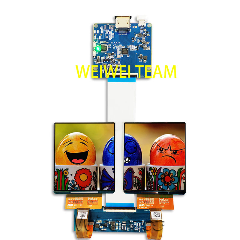 3.8 inch AMOLED OLED display Dual Screen hdmi mipi board 1080*1200 high resolution for DIY VR projector glasses/vr headset/HMD(China)