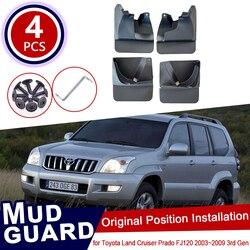 Для Toyota Land Cruiser Prado LC120 FJ120 120 2003 ~ 2009 автомобиль брызговики брызговик щитки Брызговики 2005 2006 2007 2008