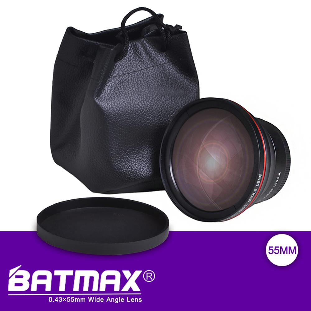 55MM 0.43x Batmax Professional HD Wide Angle Lens (w/Macro Portion) for Nikon D3400, D5600 and Sony Alpha Cameras image