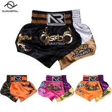 Boxing-Shorts Embroidery Muaythai Women Trunks Sanda-Clothing MMA Training-Combat Men's