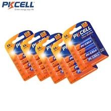 5 Pack/20 Stuks PKCELL AA LR6 UM3 MN1500 E91 batterij 1.5 v Alkaline Batterij Droge en Primaire Batterijen superieure R6P 2A batteria