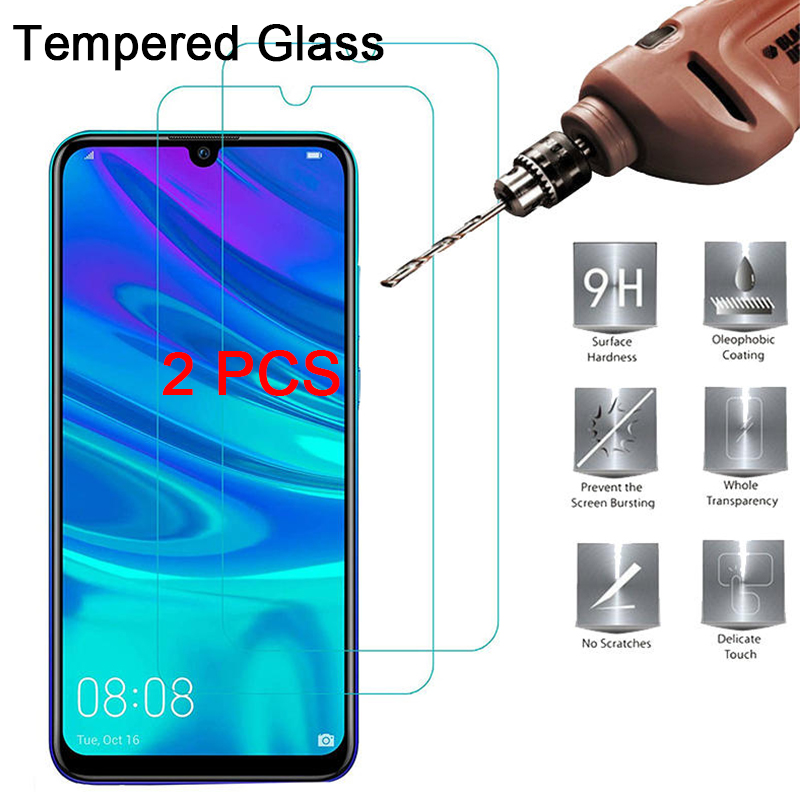 2 шт закаленное стекло для Huawei Y6 2019 Y5 Pro Защитная пленка для экрана для Huawei Y9 Y7 Prime 2019 HD двойное защитное стекло 9 H