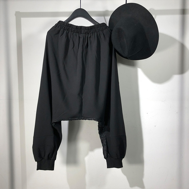 Owen Seak Men Casual Cross Pants Skirt High Street Wear Dark Ankle Length Pants Men Japanese Sweatpants Spring Harem Black Pants 2