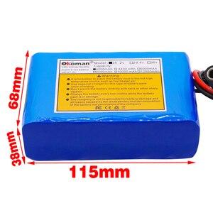 Image 2 - Okoman قدرة عالية 24 فولت 4Ah 18650 بطارية ليثيوم أيون حزمة 25.2 فولت 4000mAh دراجة كهربائية الدراجة/الكهربائية/بطارية أيون الليثيوم حزمة