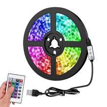 1M 2M 3M 4M 5M luces de tira de LED de infrarrojos USB Control RGB SMD 5050 DC5V lámpara Flexible cinta de iluminación de fondo de TV luces LED