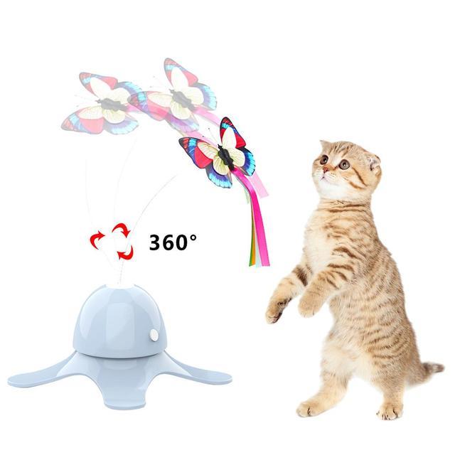 Fluorescent Butterfly Kitten Toys Non Stop Fun!  5