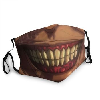Mascarilla facial Rutilizable del Titán Shingeki No Kyojin Shingeki No Kyojin Mascarillas de Anime