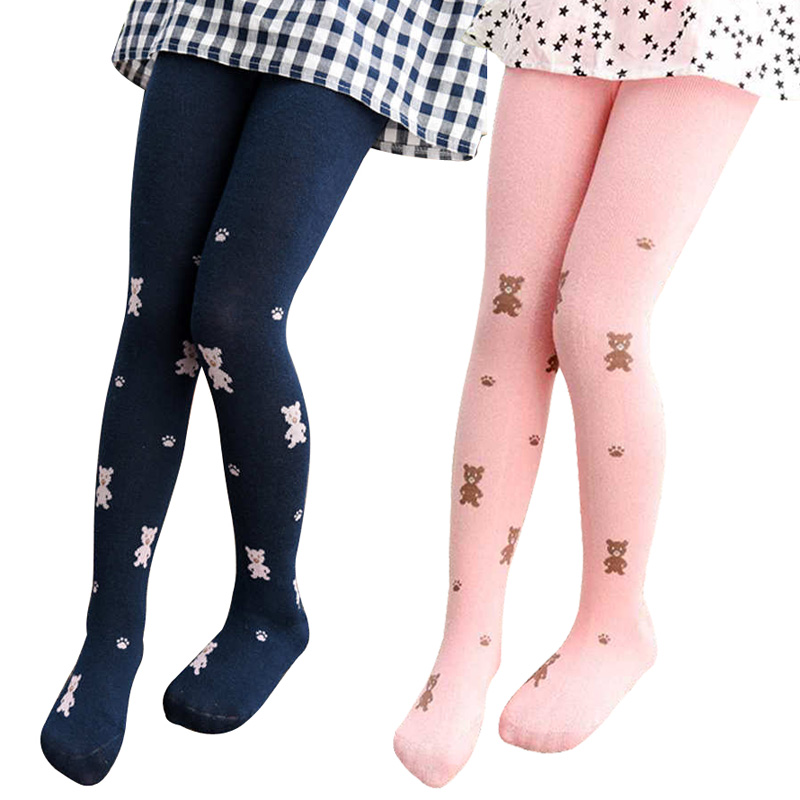 Girls Tights Stockings Pantyhose Knitted Toddler Baby Kids Children Cotton Fashion  title=