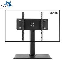 탁상 TV 테이블 모니터 스탠드 범용 TV 데스크 스탠드/기본 LCD LED TV 테이블 벽 마운트 26 ~ 55 인치 평면 화면