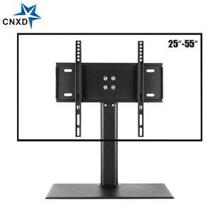 Image 1 - 탁상 TV 테이블 모니터 스탠드 범용 TV 데스크 스탠드/기본 LCD LED TV 테이블 벽 마운트 26 ~ 55 인치 평면 화면
