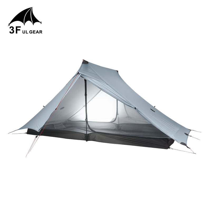 3F ULเกียร์Lanshan 2 Proเต็นท์กลางแจ้ง 2 คนUltralight Campingเต็นท์ 3 ฤดูProfessional 20D Silnylon Rodlessเต็นท์