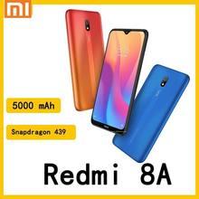 Xiaomi Redmi 8A 64GB Blue Android 9,0 две сим-карты с распознаванием лица восьмиядерный мобильный телефон 12MP AI камера 6,22