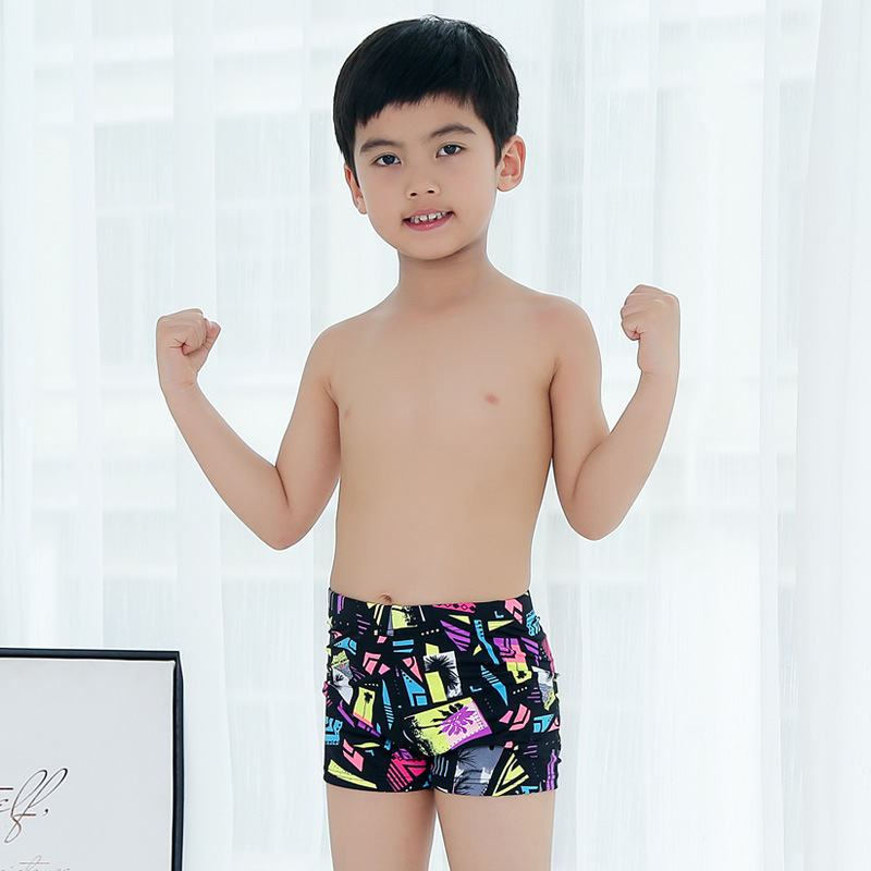 Hao Gay 2019 New Style BOY'S Swimsuit Fashion Printed Children Swimming Trunks Boy Small CHILDREN'S Big Boy Swimwear