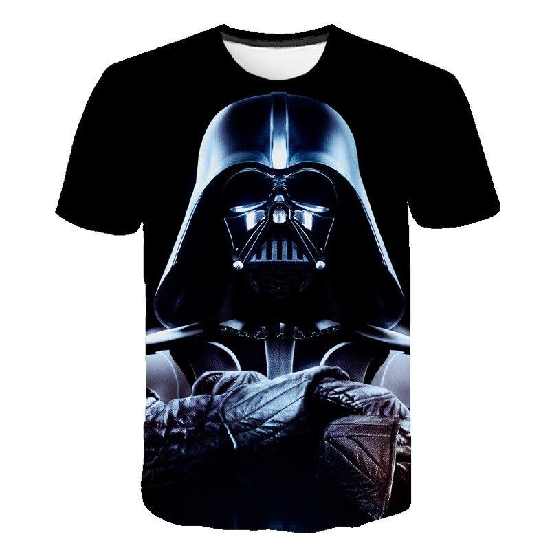 2020 New Short-sleeved O-neck T-shirt 3D Printed Star Wars T-shirt Harajuku Darth Vader Comfortable Fashion Hip-hop Size S-6XL
