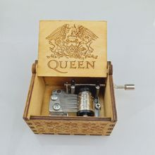 Music Box Hand Crank Engraved Musical Box Personalizable Gift for Daughter