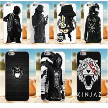 TPU Coque Case Capa Kinjaz Ninja Hip Hop For iPhone X 4S 5S 5C SE 6S 7 8 Plus Galaxy Note 5 6 8 S9+ Grand Core Prime Alpha(China)