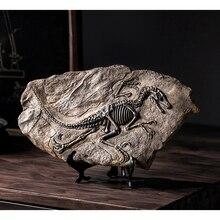 Dinosaur Skull Sculpture Fossil-Figurines Home-Decoration-Accessories Ornament Office-Decor