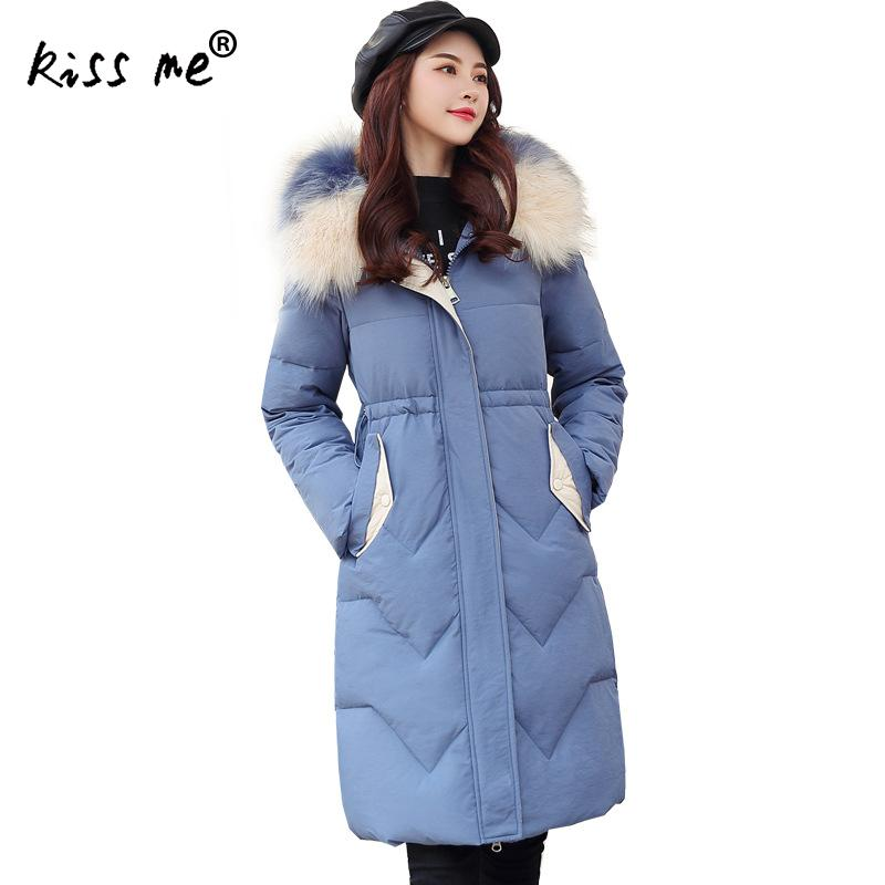 Mid-Long Style Outdoor Down Coat Hooded Women Camping Hiking Down Jacket Female Thermal Warm Coat Winter Clothing Solid