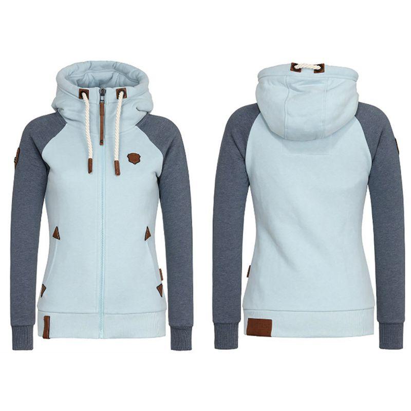 2019 Spring Women Hooded Coat Windbreaker Female Zipper Windproof Outerwear   Basic     Jacket   Coat Tops Plus Size S-5XL