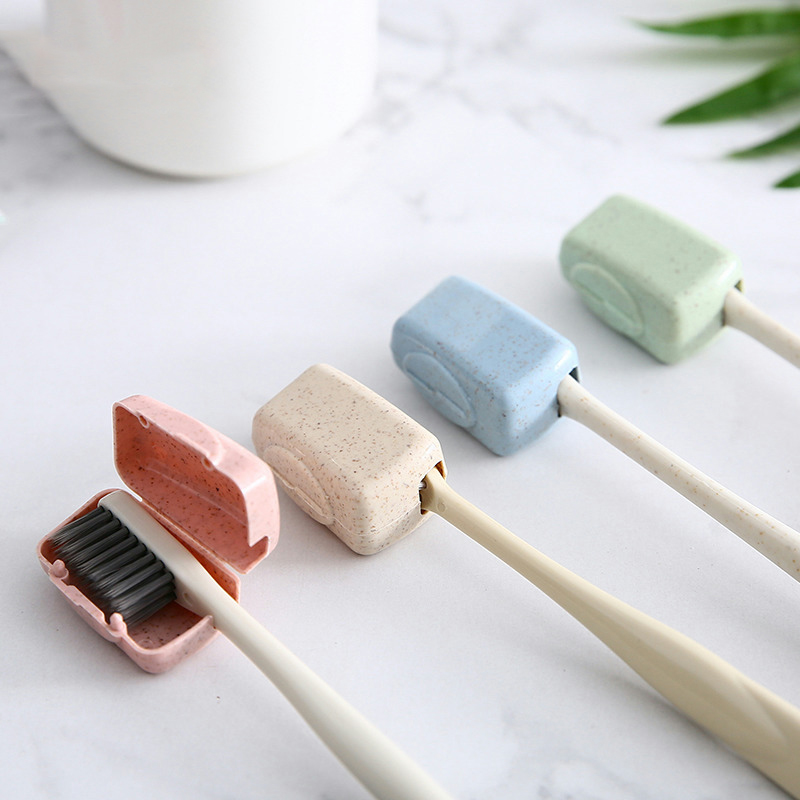 4 Pcs Travel Portable Toothbrush Protector Travel Small Hood With Cover
