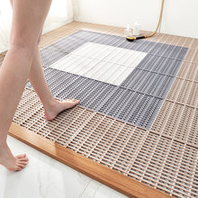 New PVC family bathroom shower room DIY hollow drainage anti slip mat can be spliced floor mat foot pad bathroom mat
