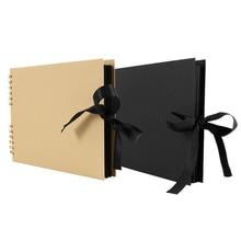 80 страниц фотоальбомы скрапбук бумага поделки альбом Скрапбукинг Фотоальбом для свадьбы юбилей подарки книги памяти