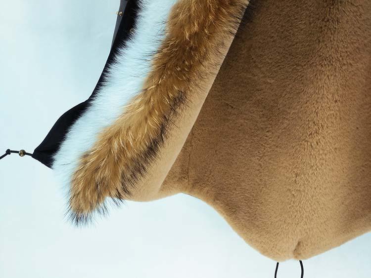 Sheepskin Parka Natural Sleeves 10