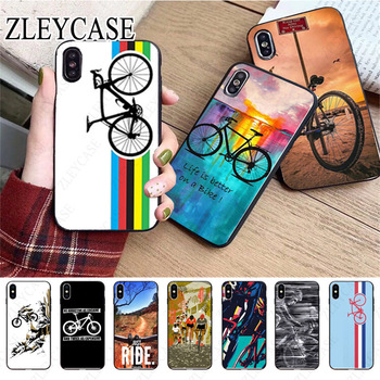 bike bicycle cycling art Black Phone Case For iphone x xs 12pro max 5s 6splus 7 8plus xr xsmax 11pro cover Cellphones - discount item  21% OFF Mobile Phone Accessories