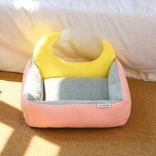 New Moon Bed Pet Nest Square Detachable Dog Bed Four Seasons Universal Cat Bed Pet Cushion Have Three Colors Are Available(China)