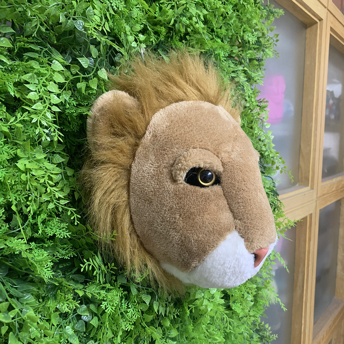 Image 4 - Most popular lifelike wall decoration lion shaped plush animal head toy-in Plush Wall Stuff from Toys & Hobbies